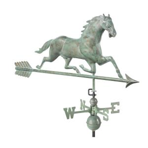 Good Directions Horse Weathervane with Arrow - Blue Verde Copper by