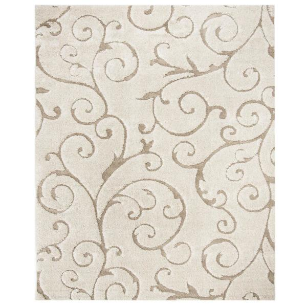 Florida Shag Cream/Beige 10 ft. x 13 ft. Area Rug