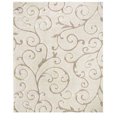 Florida Shag Cream/Beige 10 ft  x 13 ft  Area Rug