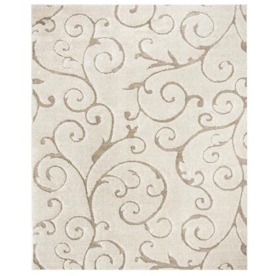 Florida Shag Cream/Beige 9 ft. x 12 ft. Area Rug