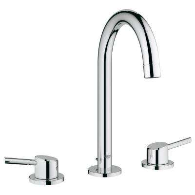 Concetto 8 in. Widespread 2-Handle High-Arc Bathroom Faucet in StarLight Chrome