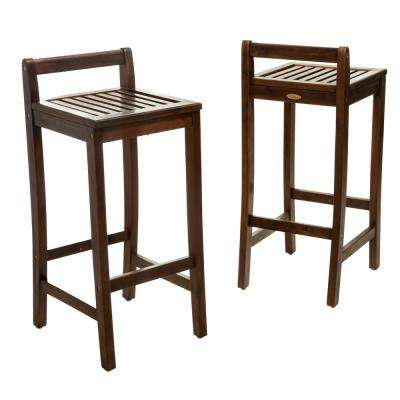 Miya Wood Outdoor Bar Stool (2-Pack)