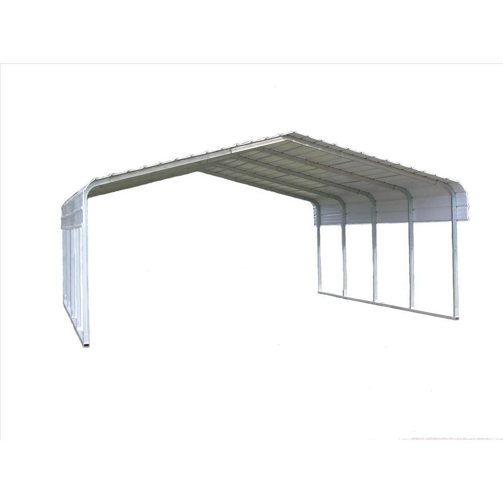 18 ft. W x 20 ft. L x 7 ft. H Steel Carport