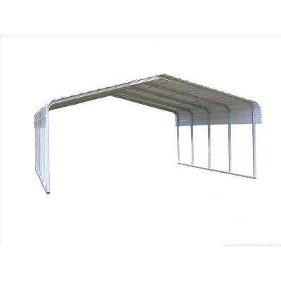 20 ft. W x 20 ft. L x 7 ft. H Steel Carport