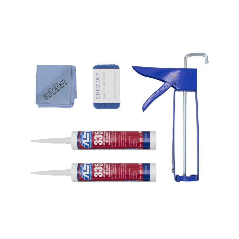 SINKOLOGY Complete Silicone Installation Kit for Copper Sinks