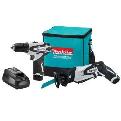 12-Volt MAX Lithium Ion Cordless Drill and Recip Saw Combo Kit (2-Piece) with (2) 1.3Ah batteries, Charger, Tool Bag