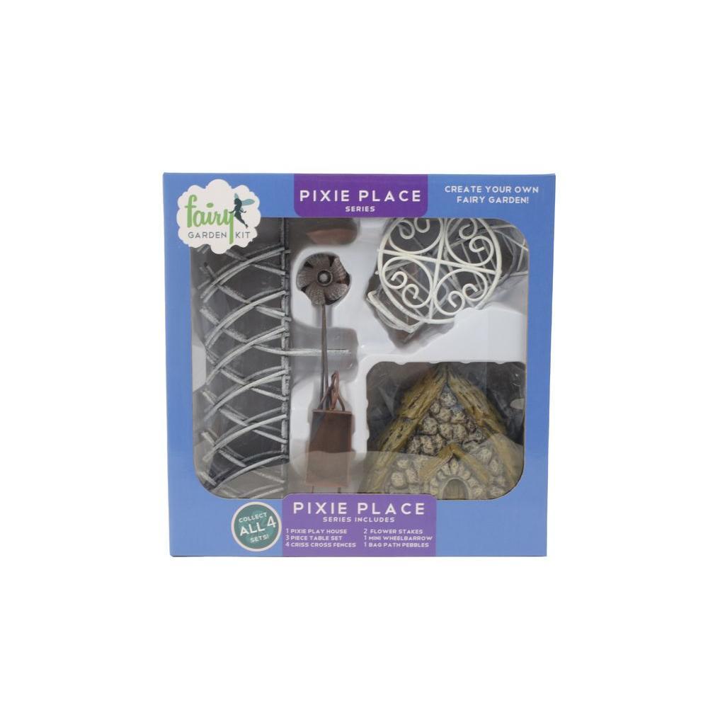 Pixie Place Polyresin Fairy Garden Kit (11-Piece)