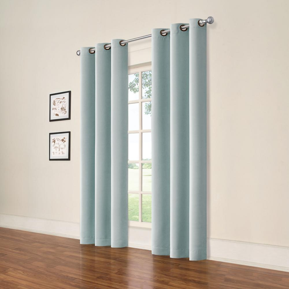 Darrell Spa Blue Blackout Window Panel