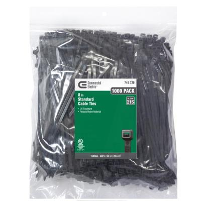 8 in. UV Cable Tie - Black (1000-Pack)