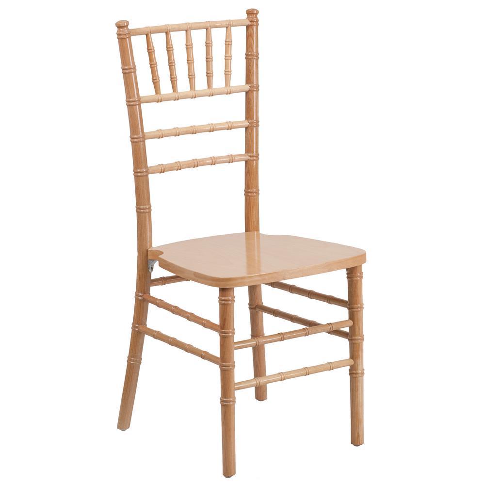 Hercules Series Natural Wood Chiavari Chair