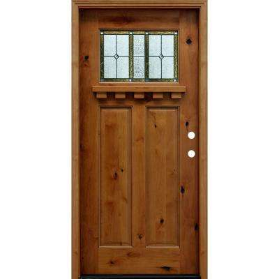 36 X 80 2 Panel Craftsman Doors With Glass Wood Doors The