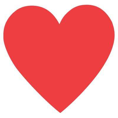 3.75 in. Valentine's Day Red Paper Heart Cutouts (10-Count, 9-Pack)