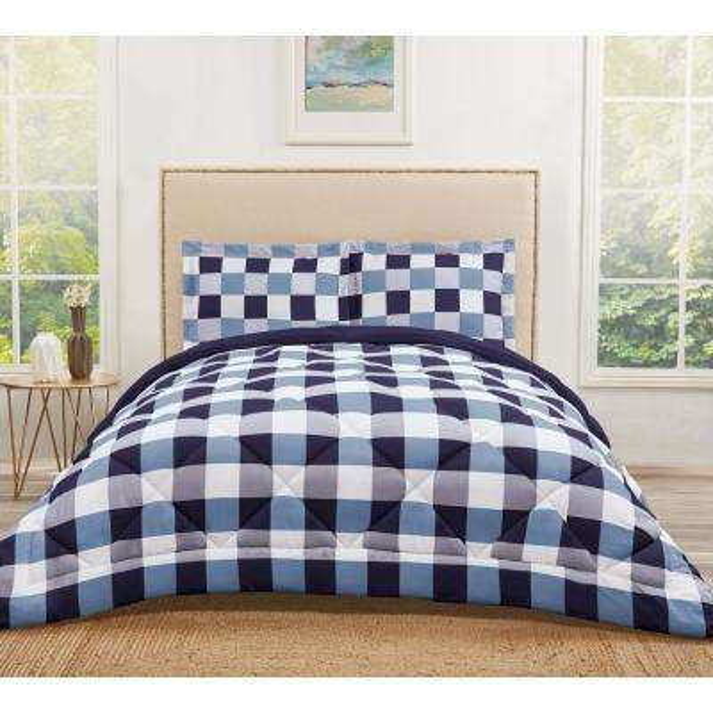 Buffalo Plaid Navy Full / Queen Comforter Set