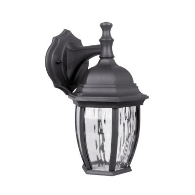 Black Outdoor Integrated LED Wall Lantern Sconce