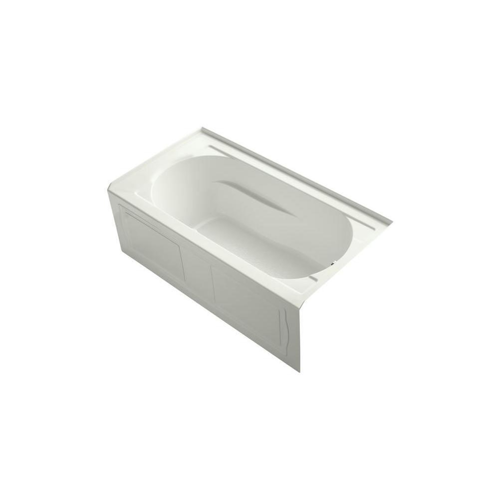 KOHLER Devonshire 5 ft. Air Bath Tub in White-K-1357-GRAW-0 - The ...