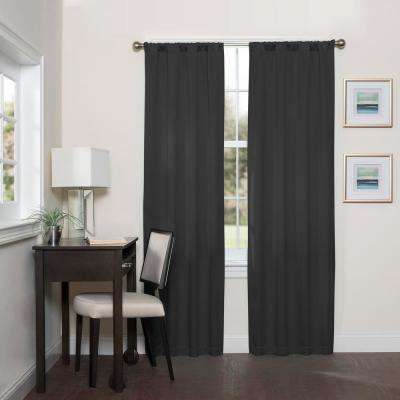 Darrell Blackout Window Curtain Panel in Black - 37 in. W x 95 in. L