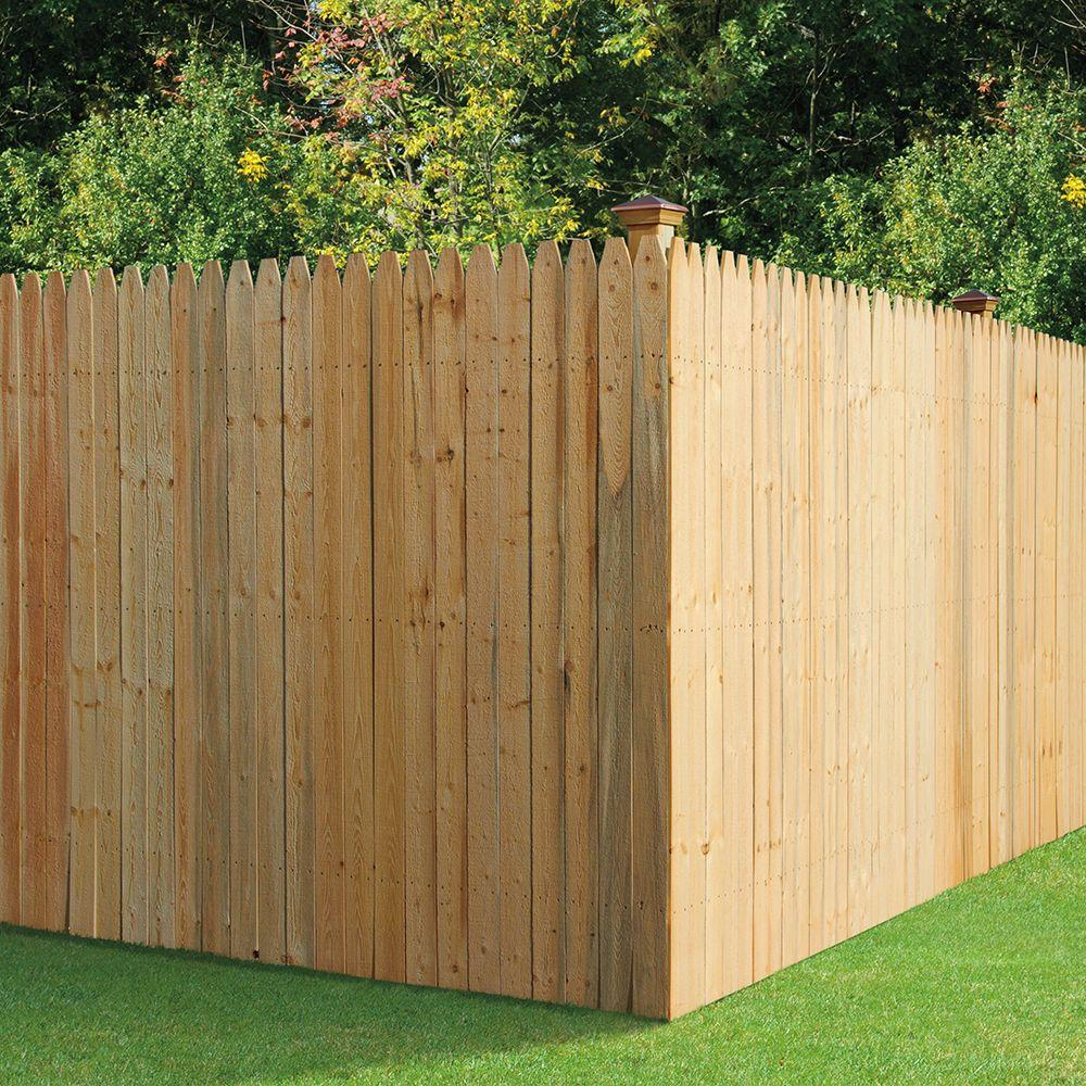 W Spruce Pine Fir Stockade Fence Panel