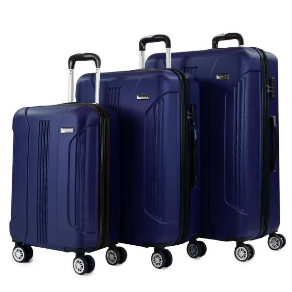 306c5b82f131 American Green Travel Denali 3-Piece Navy Expandable Hardside ...