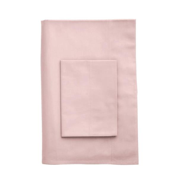 The Company Store Company Cotton Blush Percale King Duvet Cover