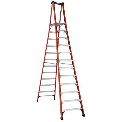 12 ft. Fiberglass Pinnacle PRO Platform Ladder with 375 lbs. Load Capacity Type IAA Duty Rating