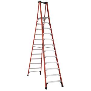 Louisville Ladder 12 ft. Fiberglass Pinnacle PRO Platform Ladder with 375 lbs. Load Capacity Type IAA Duty... by Louisville Ladder