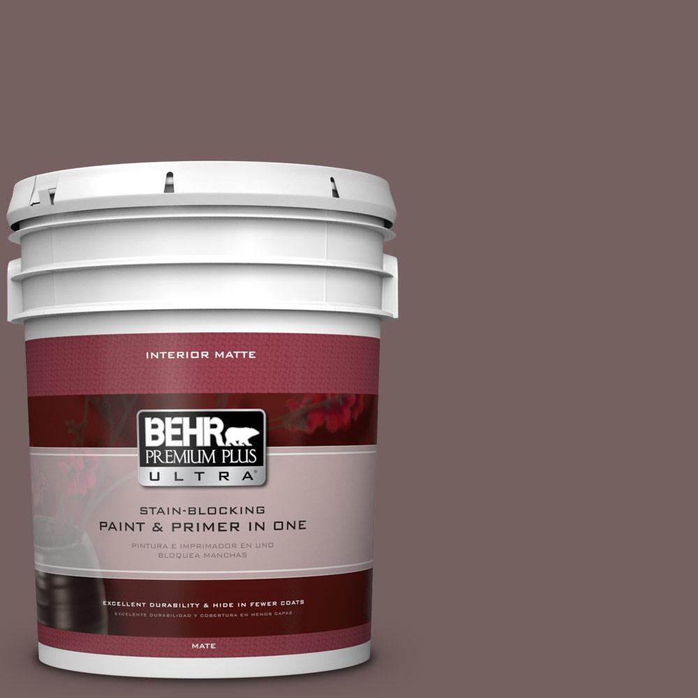 BEHR Premium Plus Ultra 5 gal. #730B-6 Sweet Truffle Flat/Matte Interior Paint