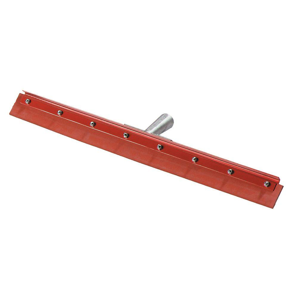 Flo-Pac Straight Red Gum Rubber Floor Squeegee with 24 in. Heavy-Duty