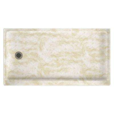32 in. x 60 in. Single Threshold Shower Floor in Cloud White