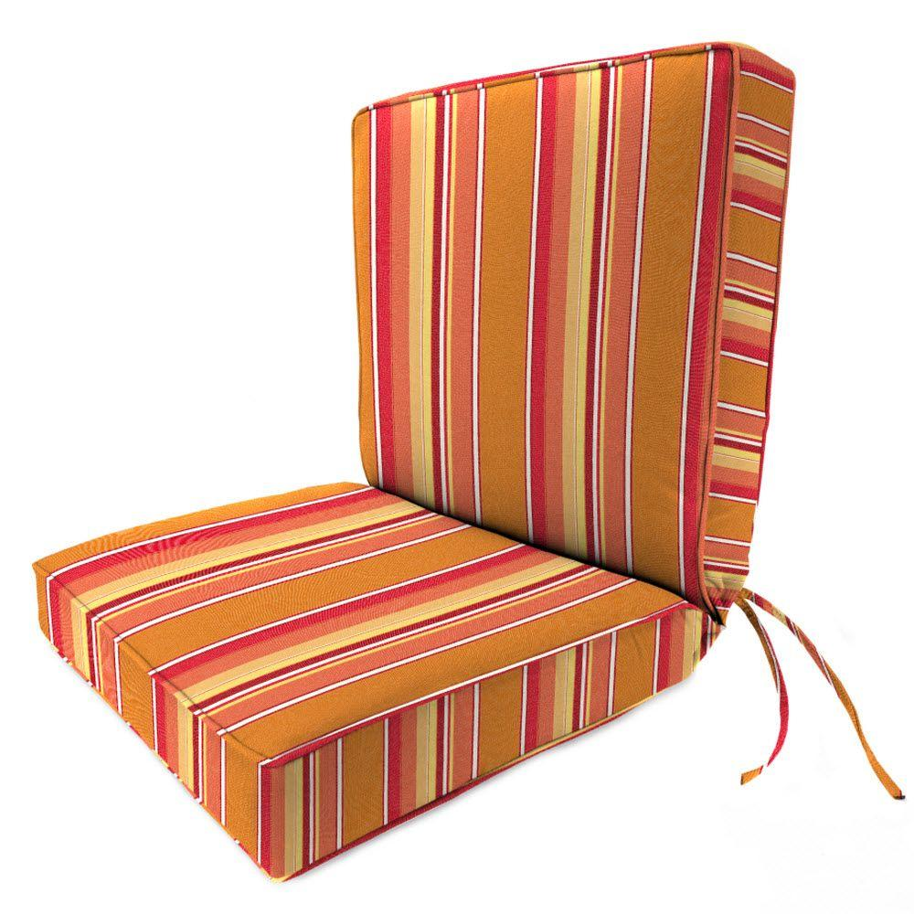 Home Decorators Collection Sunbrella Dolce Mango Outdoor Dining Chair Cushion 9198410570 The
