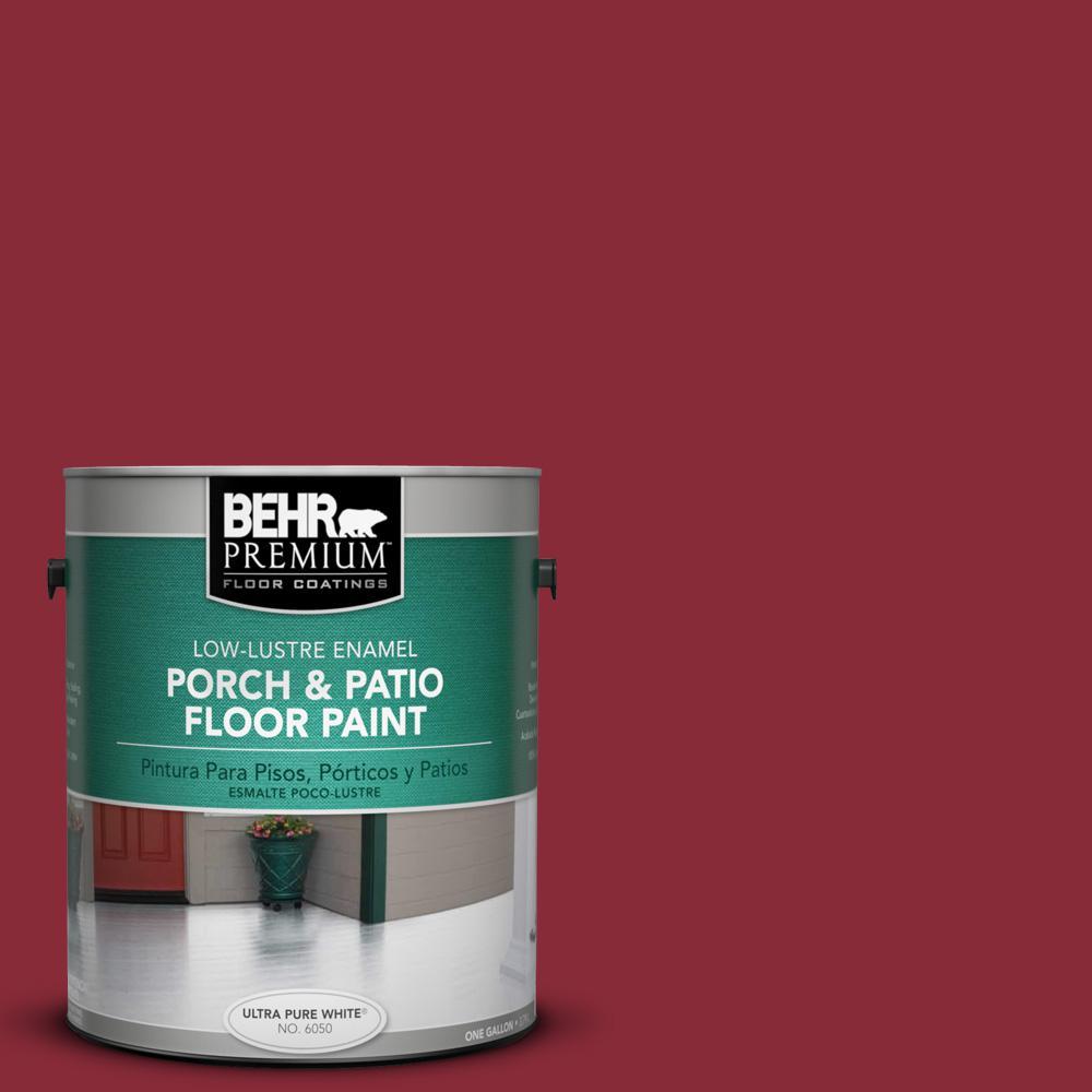 1 gal. #S-G-140 Cherry Cobbler Low-Lustre Porch and Patio Floor Paint