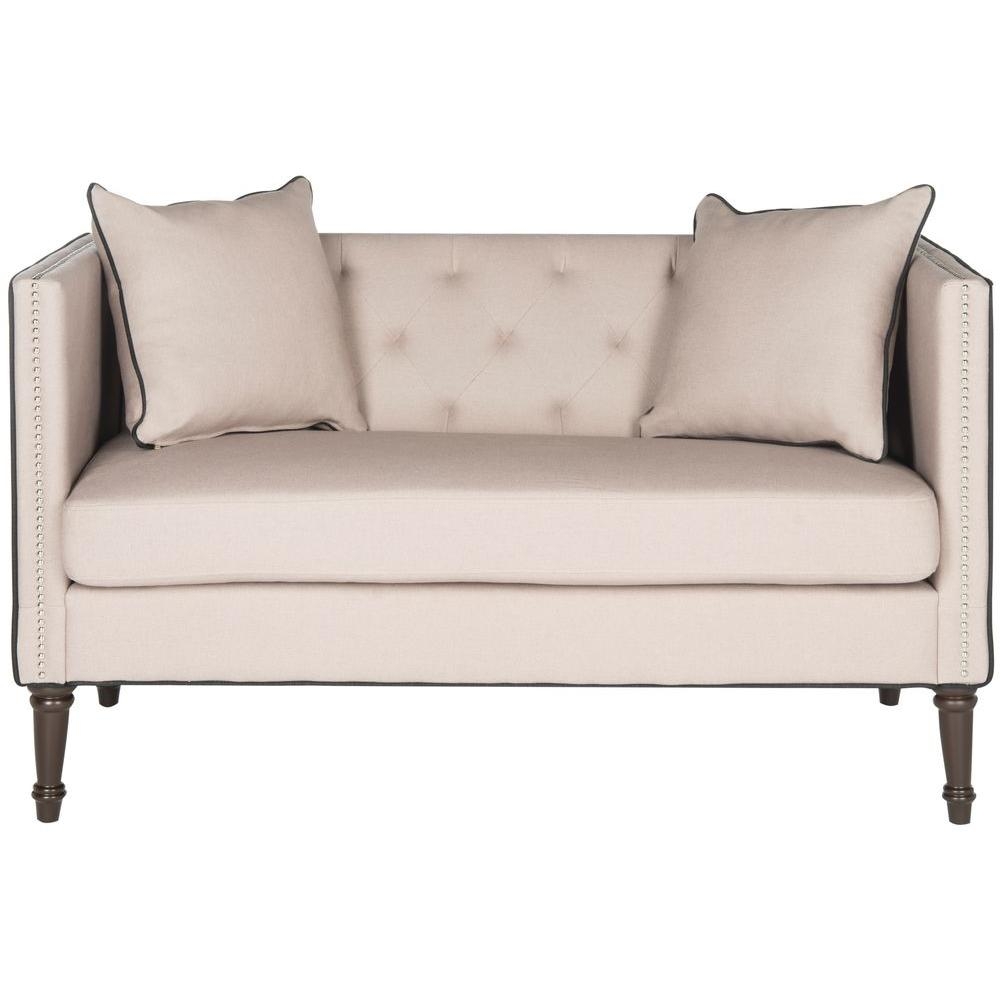 Safavieh Sarah Taupe And Black Loveseat