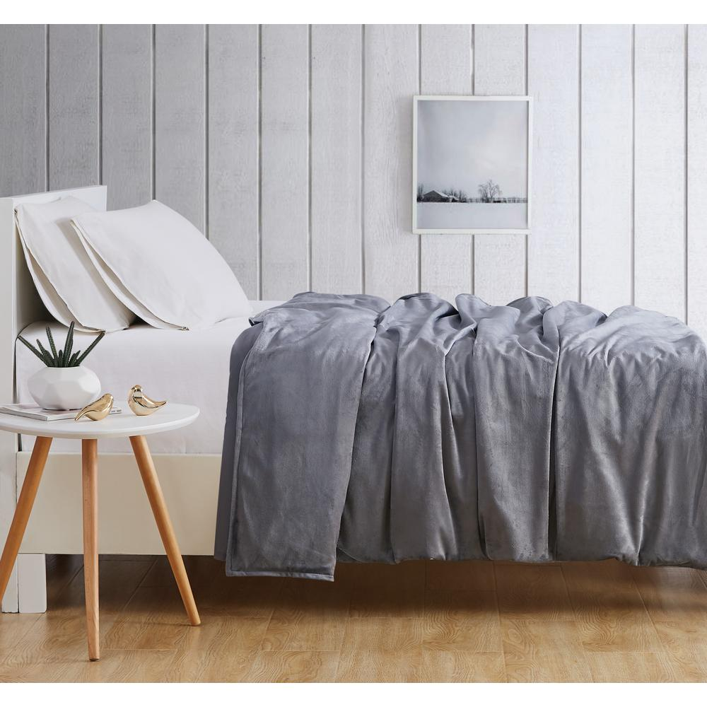 London Fog 15 lbs. Weighted Blanket in Grey