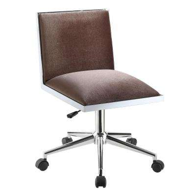 Athol Brown Contemporary Office Chair with Pneumatic Height Adjustable Seat