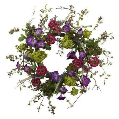 20 in. Veranda Garden Wreath