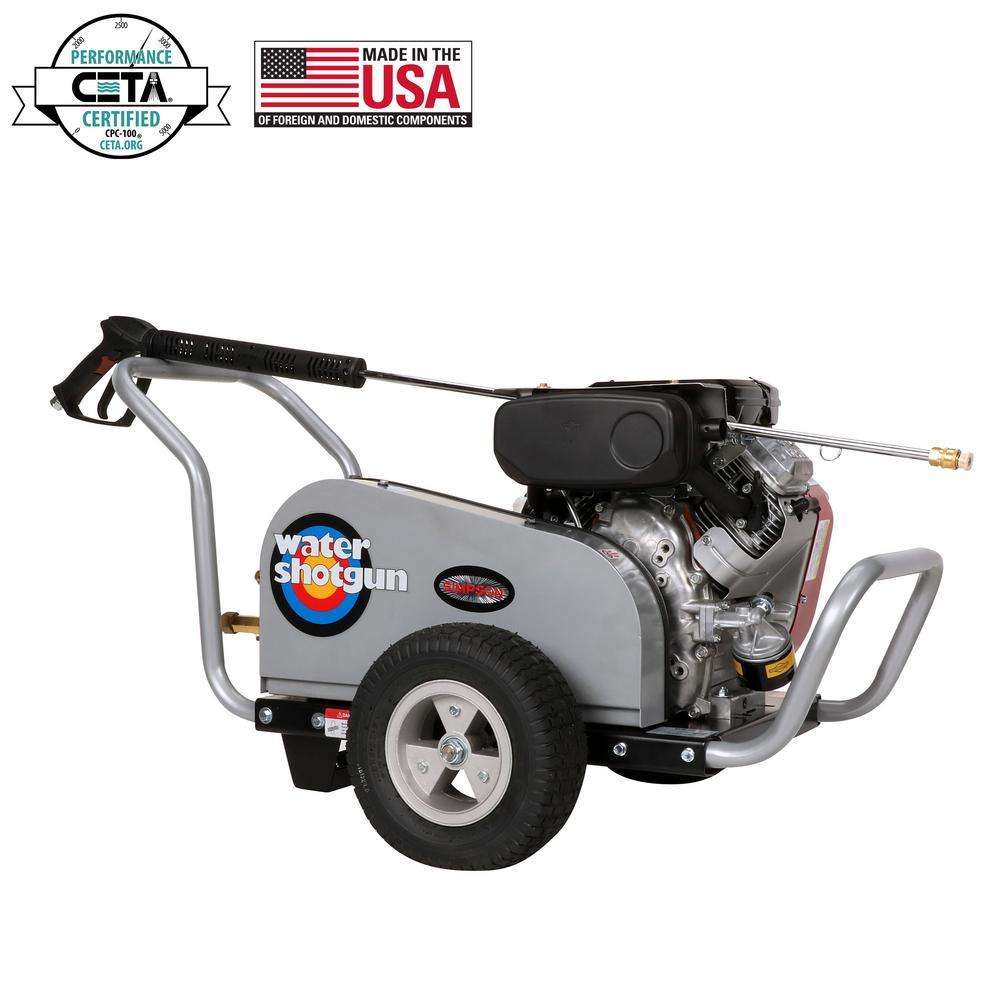 WaterShotgun 4000 psi at 5.0 GPM VANGUARD V-Twin with COMET Triplex Pump Professional Gas Pressure Washer