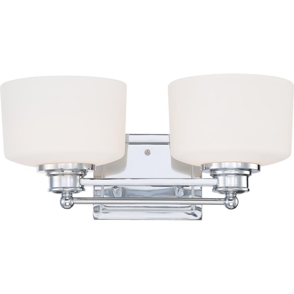 Carly 2-Light Polished Chrome Bath Vanity Light
