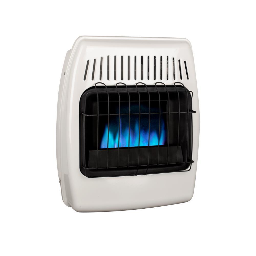 10,000 BTU Blue Flame Vent Free Liquid Propane Wall Heater