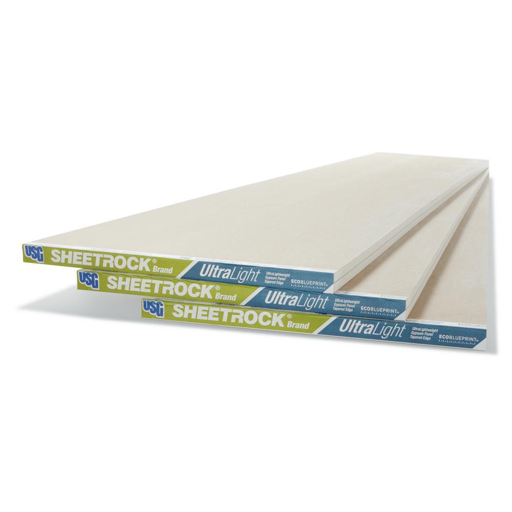 Sheetrock UltraLight 1/2 in  x 4 ft  x 8 ft  Gypsum Board
