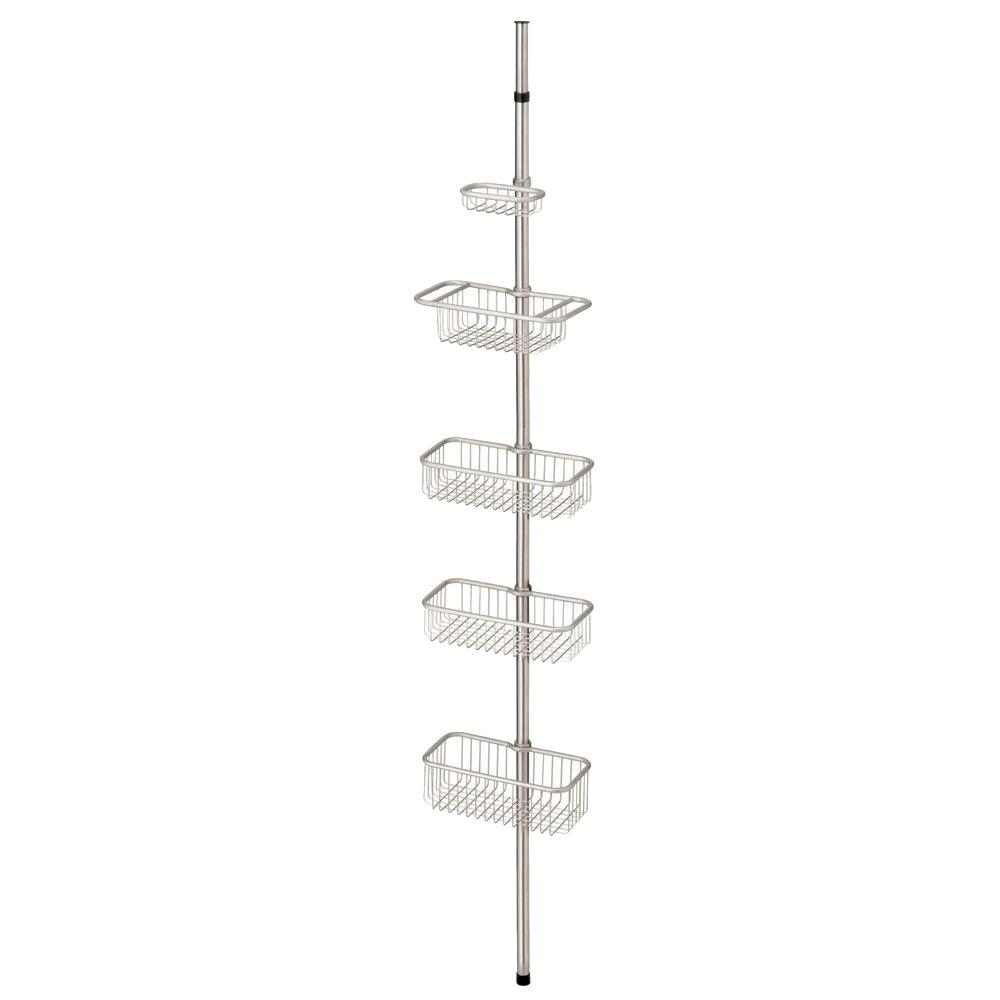 Kenney Satin Nickel 3-Tier Tension Pole Shower Caddy with Stainless ...