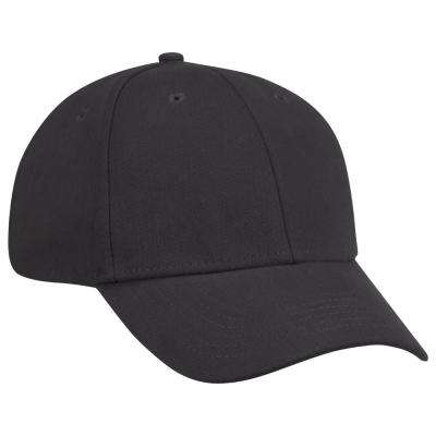 One Size Fits All Black Cotton Ball Cap