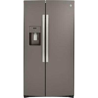 21.8 cu. ft. Side by Side Refrigerator in Slate, Counter Depth and Fingerprint Resistant