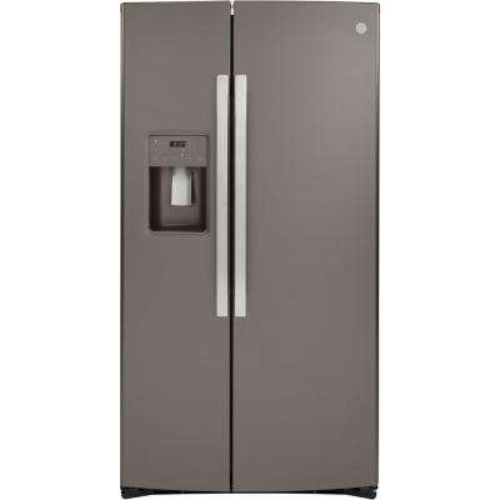 21.8 cu. Ft. Side by Side Refrigerator in Slate, Counter Depth and Fingerprint Resistant