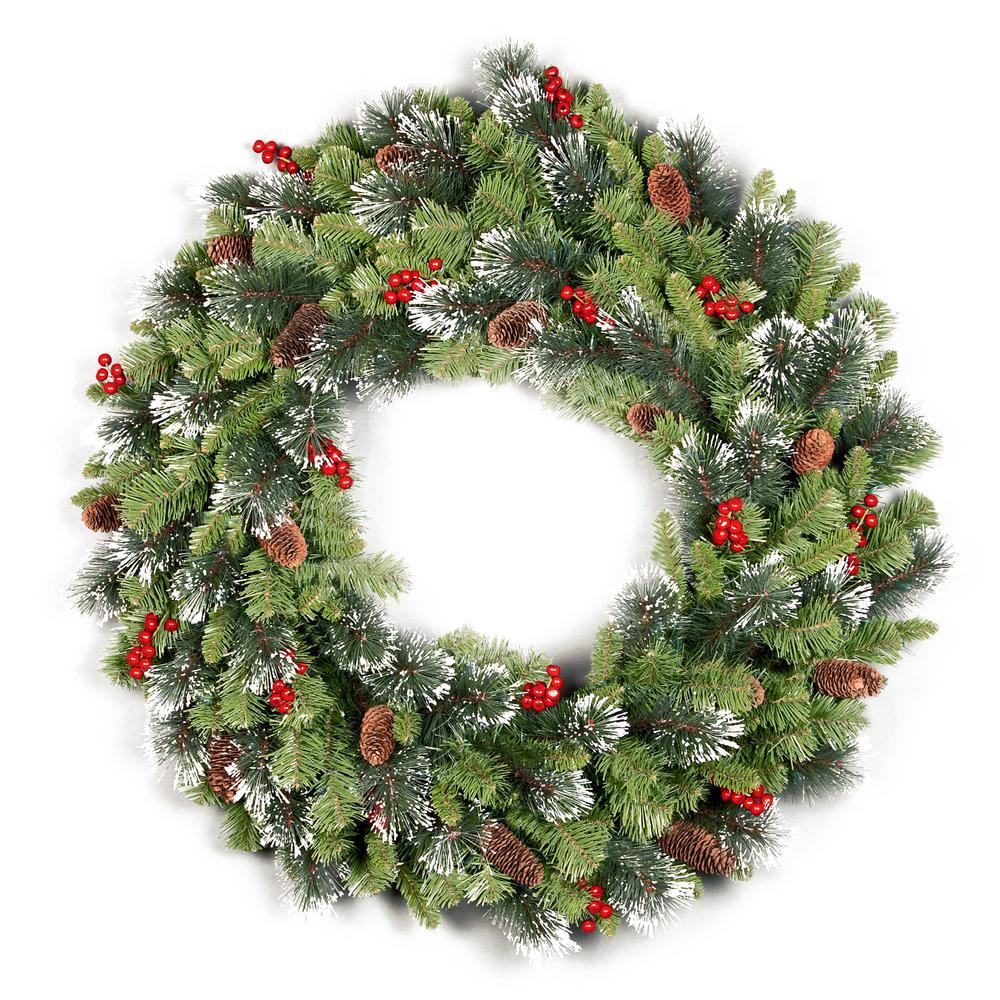 Farmhouse Christmas Wreaths Christmas Greenery The Home Depot