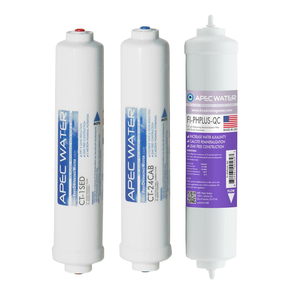 APEC Pre-filter Set for Ultimate RO-CTOP-PH Countertop RO Systems (Stages 1,
