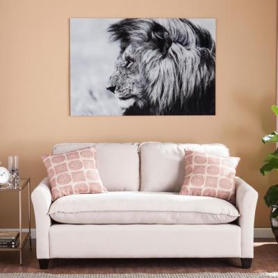 32 H x 47 W The Lion Glass Wall Art