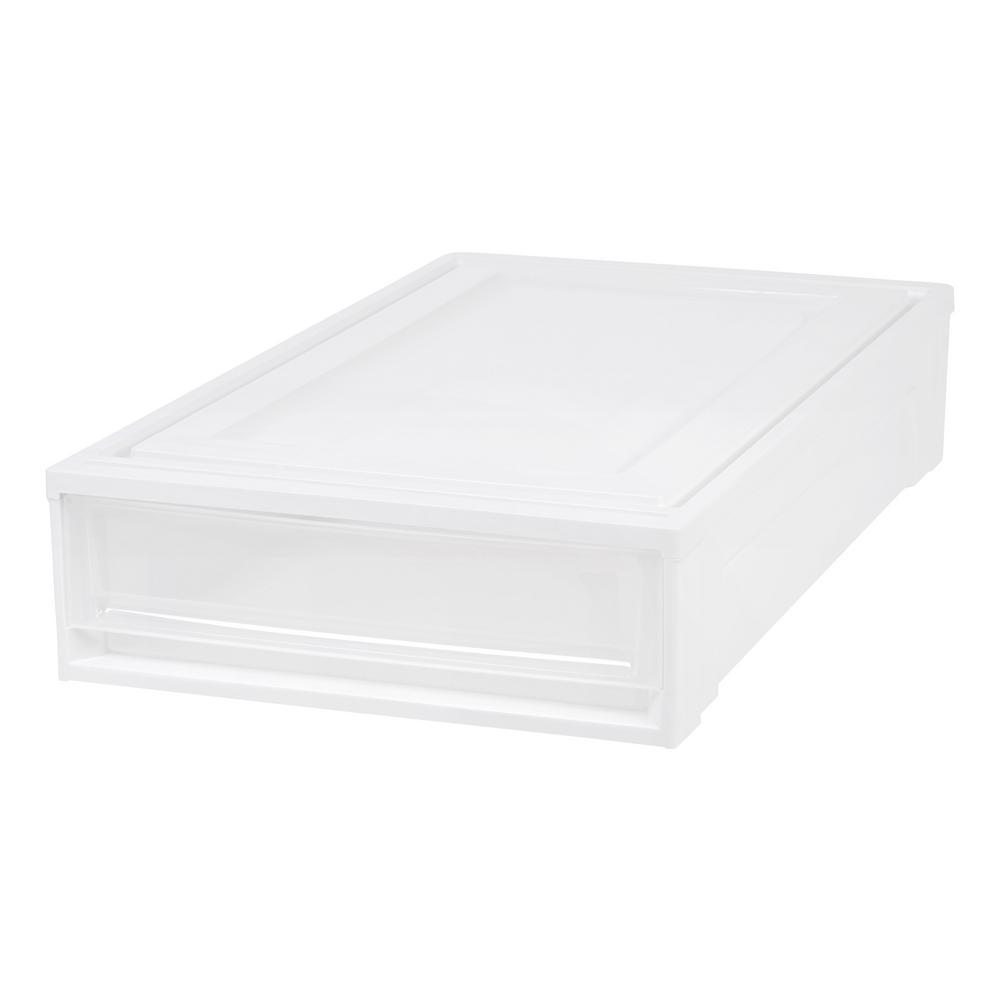 White Under Bed Box Chest Drawer