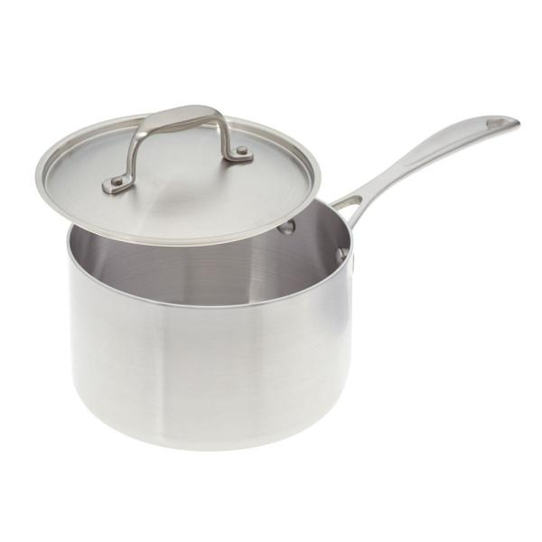 American Kitchen 3 Qt. Premium Stainless Steel Sauce Pan with Cover
