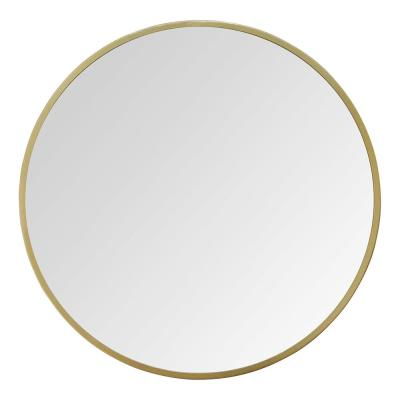 Medium Round Gold Casual Mirror (28 in. H x 28 in. W)