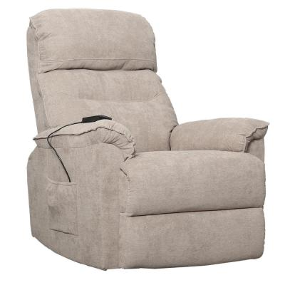 Beige Power Lift Chair with Remote Soft Fabric Upholstery Recliner Living Room Sofa Chair