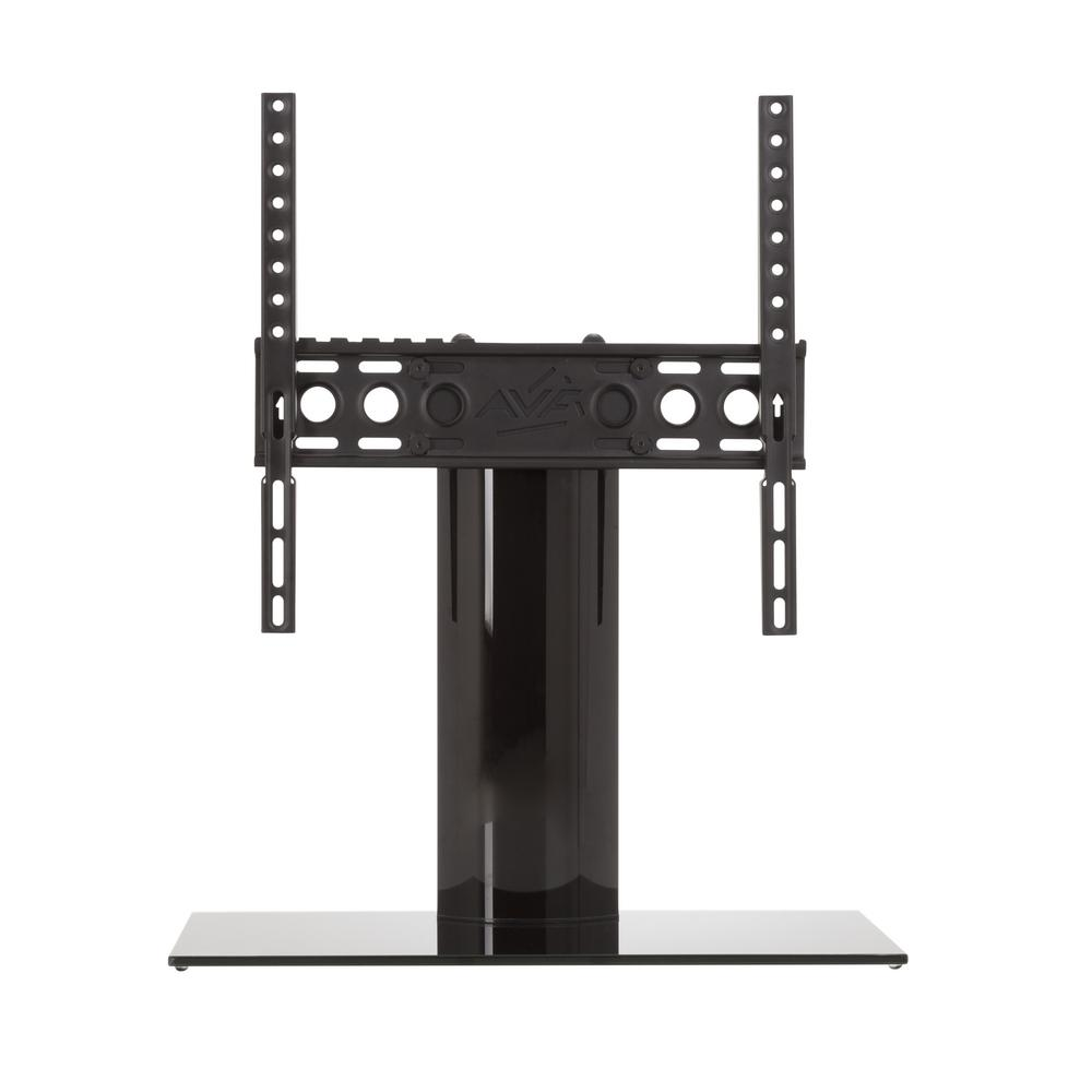 Universal Table Top TV Stand/Base Fixed Position for Most TVs 37 in. to 55 in., Black/Black
